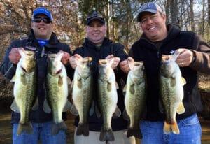 Bass fishing on Smith Lake
